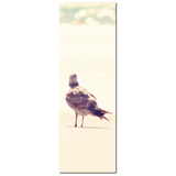 Bird on a Beach - Tall Canvas - Bird Decor - Seagull at the Beach - Seagull Canvas - Natural Tones - Large Canvas - 20 x 60 Canvas - Sylvia Coomes