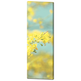 Abstract Yellow Art - Sky Blue Canvas - Cottage Chic Flowers - Large Flower Canvas - Blue Yellow Canvas - Large Canvas - 20 x 60 Canvas - Sylvia Coomes
