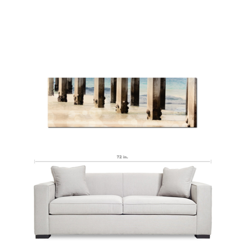 Board Walk 4 Fine Art Photography Panoramic 20 x 60 x 1.25 inch Premium Canvas Gallery Wrap - Sylvia Coomes