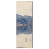 Scenic Art - Muted Colors - Minimalist - Mountain Reflection - Tall Canvas - Bird Photo - Dreamy Canvas - Large Canvas - 20 x 60 Canvas - Sylvia Coomes
