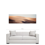 Mojave Desert Art - Abstract Sand Dunes - SW Desert Art - Panoramic Canvas - Tan and Blue Decor - Waves - Large Canvas - 20 x 60 Canvas - Sylvia Coomes