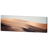 Mojave Desert Art - Abstract Sand Dunes - SW Desert Art - Panoramic Canvas - Tan and Blue Decor - Waves - Large Canvas - 20 x 60 Canvas