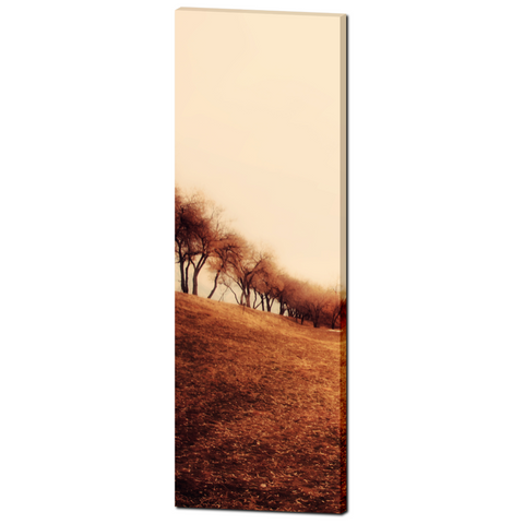 Minimalist Autumn Landscape Fine Art Photography 20 x 60 x 1.25 inch Premium Canvas Gallery Wrap