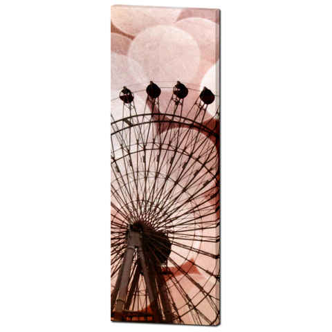 Crimson Ferris Wheel Fine Art Photography 20 x 60 x 1.25 inch Premium Canvas Gallery Wrap - Sylvia Coomes