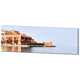 Old Venetian Harbor Fine Art Photography Panoramic 20 x 60 x 1.25 inch Premium Canvas Gallery Wrap - Sylvia Coomes