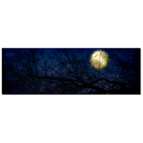 Celestrial Canvas - Blue Moon - Large Canvas - Full Moon Canvas - Panoramic Canvas - 20 x 60 Canvas - Gallery Wrapped Canvas - Royal Blue - Sylvia Coomes
