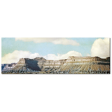 Utah Canvas - Rustic Home Decor - Southwest Landscape - Mountain Canvas - Large Canvas - 20 x 60 Canvas - Panoramic Canvas - Blue and Brown - Sylvia Coomes