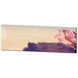 Panoramic Canvas - Pink and Brown - Pink Flower Canvas - Pink Flower Photo - Home Decor - Floral Wall Art - Large Canvas - 20 x 60 Canvas - Sylvia Coomes