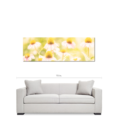 Fields of Flowers Fine Art Photography Panoramic 20 x 60 x 1.25 inch Premium Canvas Gallery Wrap - Sylvia Coomes