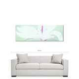 Abstract Canvas - White Flower - Mint and Purple - Teen Decor - Photo Canvas - Modern Canvas - Large canvas - 20 x 60 Canvas - Sylvia Coomes