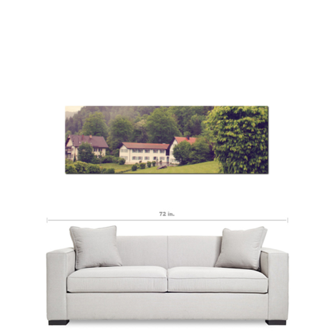 German Beauty Fine Art Photography Panoramic 20 x 60 x 1.25 inch Premium Canvas Gallery Wrap - Sylvia Coomes