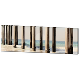 Board Walk 3 Fine Art Photography Panoramic 20 x 60 x 1.25 inch Premium Canvas Gallery Wrap - Sylvia Coomes
