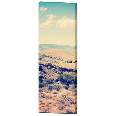 Southwest Canvas - Southwest Landscape - Southwest Home Decor - Tall Canvas - Tan and Blue - Vintage Style - Large Canvas - 20 x 60 Canvas - Sylvia Coomes