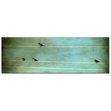 Gothic Birds on a Wire Fine Art Photography Panoramic 20 x 60 x 1.25 inch Premium Canvas Gallery Wrap - Sylvia Coomes