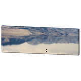 Scenic Utah - Antelope Island - Bird Reflection - Nature Canvas - Tranquil Landscape - Panoramic Canvas - Large Canvas - 20 x 60 Canvas