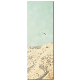 Coastal Canvas - Paragliding Photo - Extreme Sports Art - California Canvas - Beach House - Large Canvas - Blue Tan Decor - 20 x 60 Canvas - Sylvia Coomes