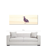 Minimalist Canvas - Panoramic Canvas - Bird Decor - Seagull Canvas - Natural Tones - Beach Photo - Large Canvas - 20 x 60 Canvas - Sylvia Coomes