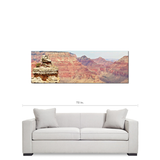Grand Canyon Panoramic 6 Fine Art Photography Panoramic 20 x 60 x 1.25 inch Premium Canvas Gallery Wrap - Sylvia Coomes