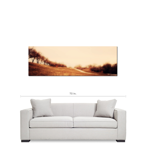 Minimalist Autumn Landscape Fine Art Photography Panoramic 20 x 60 x 1.25 inch Premium Canvas Gallery Wrap - Sylvia Coomes