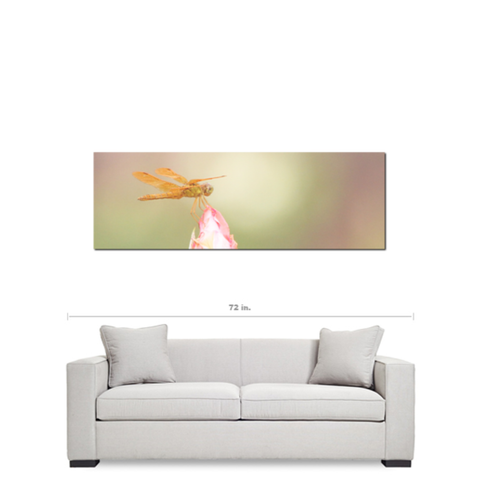 Flowers 18 Fine Art Photography Panoramic 20 x 60 x 1.25 inch Premium Canvas Gallery Wrap