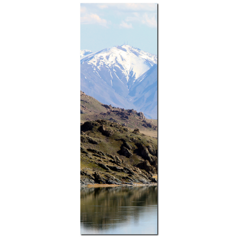 Mountain Canvas - 20 x 60 Canvas - Panoramic Canvas - Water Reflection - Landscape Canvas - Gallery Wrapped Canvas - Photo Canvas