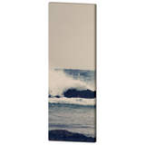 Ocean Wave Canvas - 20 x 60 Canvas - Panoramic Canvas - Nautical Canvas - Blue and White Canvas - Gallery Wrapped Canvas - Photo Canvas