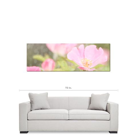Flowers 6 Bokeh Fine Art Photography  20 x 60 x 1.25 inch Premium Canvas Gallery Wrap - Sylvia Coomes