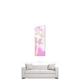 Baby Girl Decor - Nursery Wall Art - Pink and White - Dandelion Canvas - Nursery Canvas - Baby Girl Art - Flower Photo - 20 x 60 Canvas - Sylvia Coomes