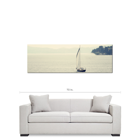 Large 20 x 60 Gallery Wrapped Panoramic Nautical Canvas