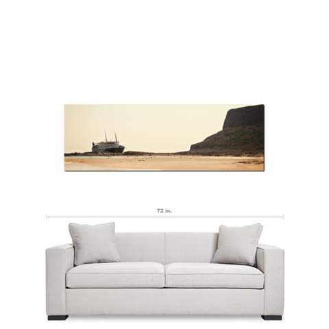 Nautical Bliss Fine Art Photography Panoramic 20 x 60 x 1.25 inch Premium Canvas Gallery Wrap - Sylvia Coomes