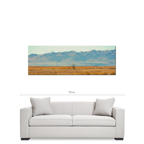 Landscape Reflection Fine Art Photography Panoramic 20 x 60 x 1.25 inch Premium Canvas Gallery Wrap