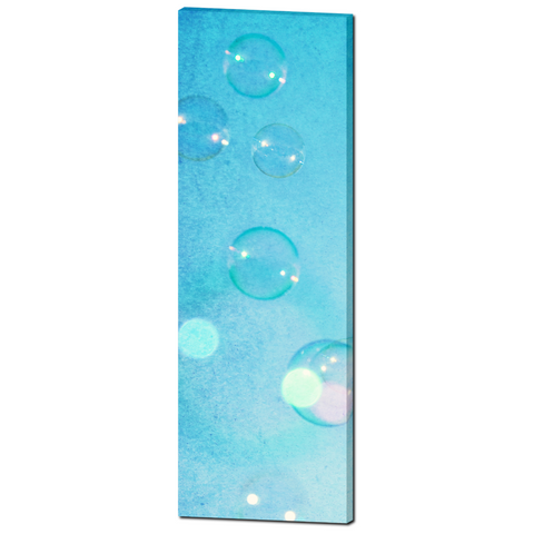 Baby Boy Decor - Nursery Wall Art - Bubbles Canvas - Nursery Canvas - Baby Blue - Bubble Photo - 20 x 60 Canvas