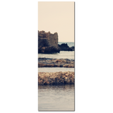 Rocky Shoreline - Rocky Coast - Mediterranean Decor - Tall Canvas - Stone Cliffs - Sea View - Large Canvas - 20 x 60 Canvas - Sylvia Coomes