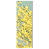 Yellow Blue Canvas - Abstract Floral Canvas - Large Flower Canvas - Tall Yellow Canvas - Large Canvas - Cottage Chic Art - 20 x 60 Canvas - Sylvia Coomes