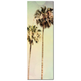 2 Tall Palm Trees - Palm Tree Canvas - Palm Tree Print - Palm Tree Photography - Palm Tree Art - Tall Canvas - Large Canvas - 20 x 60 Canvas - Sylvia Coomes