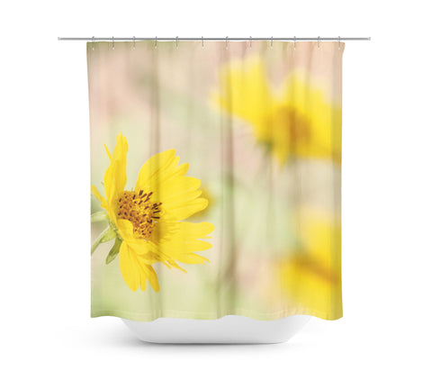 Abstract Flowers Shower Curtain - Sylvia Coomes