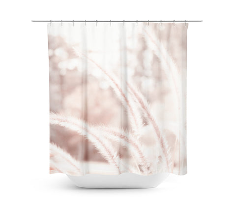 Abstract Pink Shower Curtain - Sylvia Coomes