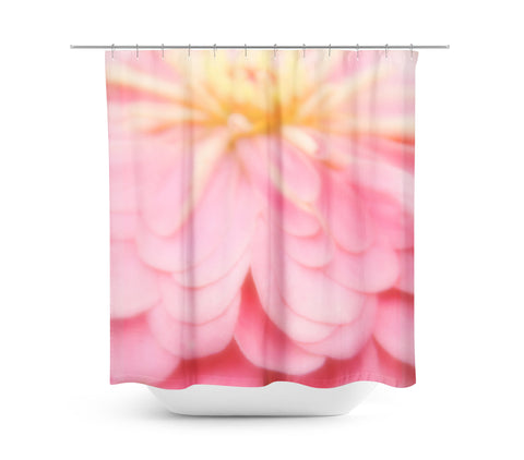 Abstract Pink and Yellow Flower Shower Curtain - Sylvia Coomes