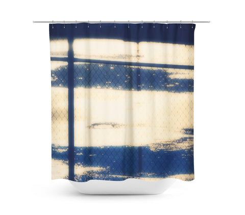 Abstract Tennis Court Shower Curtain - Sylvia Coomes