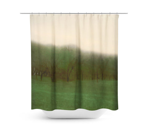 Abstract Trees in a Row Shower Curtain