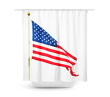 American Flag Shower Curtain - Sylvia Coomes