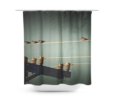 And One Stands Alone Shower Curtain - Sylvia Coomes