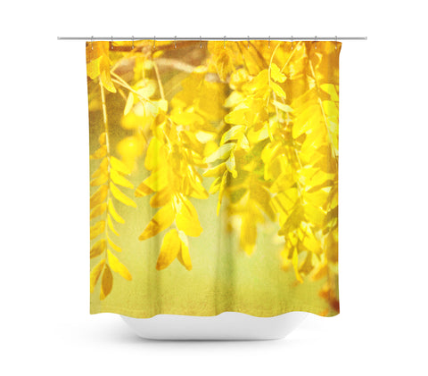 Autumn Leaves 1 Shower Curtain - Sylvia Coomes