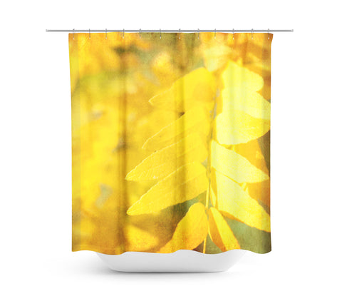 Autumn Leaves 3 Shower Curtain - Sylvia Coomes
