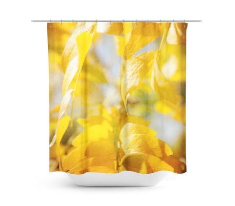 Autumn Leaves 5 Shower Curtain - Sylvia Coomes