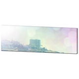 Ethereal Canvas - Pink and Green Art - Panoramic Canvas - Palm Trees - Pastel Color - Rainbow Colors - Large Canvas - 20 x 60 Canvas - Photo - Sylvia Coomes