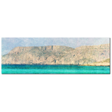 Minimalist Canvas - Nautical Canvas - 20 x 60 Canvas - Panoramic - Aqua Blue Canvas - Blue and Tan Canvas - Photo Canvas - Mediterranean Sea - Sylvia Coomes