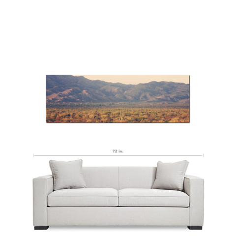Desert Landscape 7 Fine Art Photography Panoramic 20 x 60 x 1.25 inch Premium Canvas Gallery Wrap - Sylvia Coomes