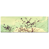 Bird Canvas - Home Decor - Vintage Style - Modern Canvas - Large Canvas - Mint Green Sky- 20 x 60 Canvas - Pastel Wall Art - Flock of Birds