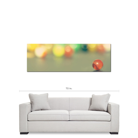 Marble Fun Fine Art Photography Panoramic 20 x 60 x 1.25 inch Premium Canvas Gallery Wrap - Sylvia Coomes